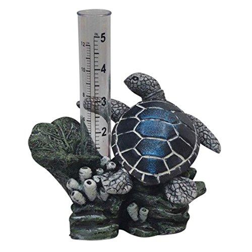 The Crabby Nook Rain Gauge Garden Outdoor Decor (Sea Turtle)