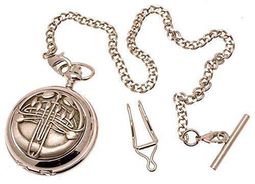 Orologio da tasca con scheletro meccanico in peltro massiccio, design Bud Rennie Mackintosh