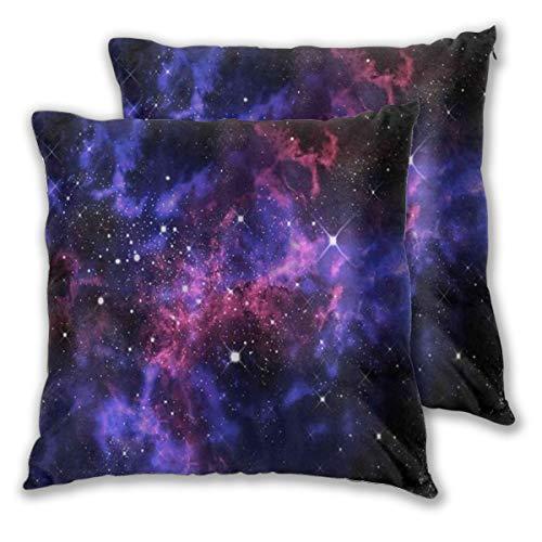 DAOPUDA Funda de Cojín Suave,Orion en el Universo,Funda de Almohada Cuadrado para Sofá Cama Decoración para Hogar 40x40cm,Set de 2