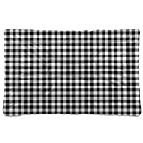 xigua Black and White Buffalo Plaid Dog Bed Mat, Soft Comfortable Warm Crate Pad with Anti-Slip Bottom, Machine Washable Pet Mattress for Pets Sleeping for Large Medium Dogs & Cats 36x24in