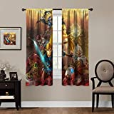 Blackout Curtains,Hyrule Warrior Age of Calamity,Legend of Zelda Breath of Wild,rod pocket Thermal...