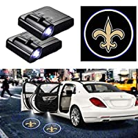 For New Orleans Saints Car Door Logo Projector Light Ghost Shadow LED Courtesy Door Lights Fit for All Brands of Cars (2PCS)
