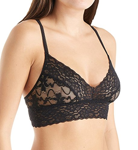 PURE STYLE Girlfriends Women's Semi-Sheer Bralette Bra, Black, X-Large