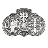 ForFine Saint Benedict Medal Visor Clip Car Sun Visor Accessories Bless Driving Safety Gift for Parent, Family, Friend, New and Old Driver (1 PCS)