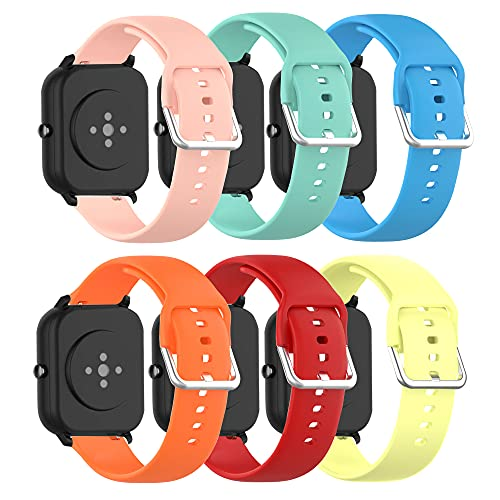 ECSEM for Yamay SW020 Smart Watch Band Replacement Bands Straps for Yamay SW021,SW023,SW025 Smart Watch(6Pack)