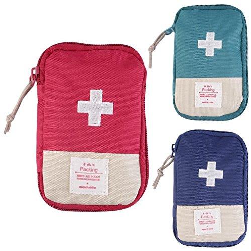 Lifesport Erste Hilfe Set, 3Pack Erste-Hilfe-Koffer First Aid Kit Notfalltasche Medizinisch Tasche Klein kompakt Perfekt Design für Haus Auto Camping Jagd Reisen Natur und Sport (3 Pack)