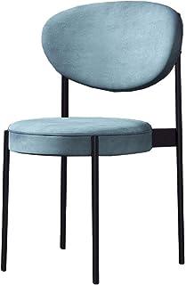 Amrai-Sillas de Comedor Modernas [6 Colores] Tela de Terciopelo Ocio Sillas tapizadas para Cocina Sala de Estar Dormitorio Oficina (Juego de 4) Patas de Metal Sillas para Invitados