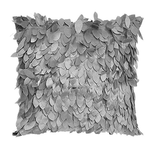 Weixinbuy Fallen Leaves Feather Couch Cushion Cover Home Decor Sofa Throw Pillow Case Gray