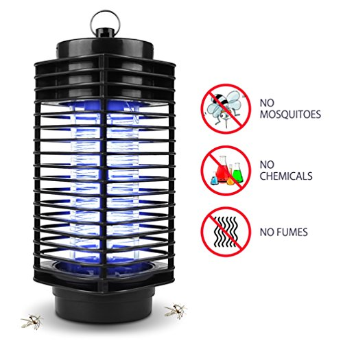 Lámpara Anti Mosquitos NuoYo 11.5 ×26 cm Negro Photocatalyst 3W/220V...
