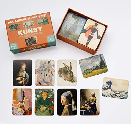 Kunst - das Andere Memo-Spiel. 25 Ungleiche Paare: 25 ungleiche Paare - Box mit 50 Karten