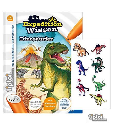 Ravensburger tiptoi ® Buch Expedition Wissen Dinosaurier + Gratis Dino-Sticker