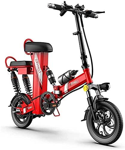 """Bicicleta electrica Bicicletas, bicicleta eléctrica plegable para adultos, bicicletas de la ciudad 3 modos de equitación con motor de 350 vatios, 12 """"Plegable liviano de Ebike Max Speed 25km / h par"""