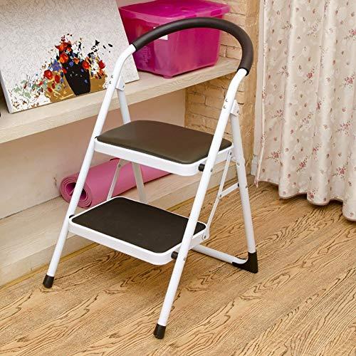 yjll Stap Kruk Keuken 2 Stap Kruk Stoelen Ijzer Kleine Vouwen Anti-Slip Ladder Draagbare Voetkruk/Stappen/Opslag Plank/Bloemenrek
