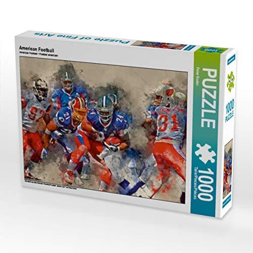 CALVENDO Puzzle American Football 1000 Teile Lege-Größe 64 x 48 cm Foto-Puzzle Bild von Peter Roder