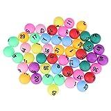 Tomaibaby 50 Piezas de Pelotas de Juego de Bingo Coloridas Pelotas de Pong de Entretenimiento Pelotas de Tenis de Mesa de Repuesto para La Máquina de Juego de Bingo de La Loteria 40MM