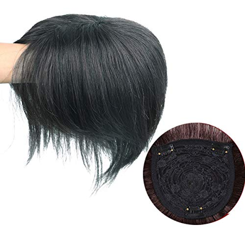 100% Echthaar Topper Haarteil Toupet Clip Haarverdichtung Spitze Perücke für Frauen