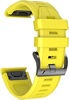 neongelb Retro Uhrenarmband gelb Perlonband Durchzugsband