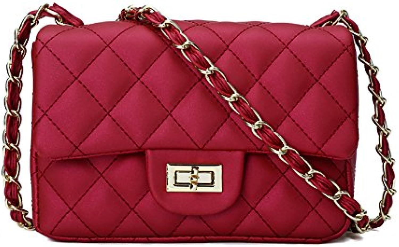 WANGZHAO Women's Bag, Shoulder Bag, Satin Bag, Frosted Matte Chain Bag, Jelly Bag