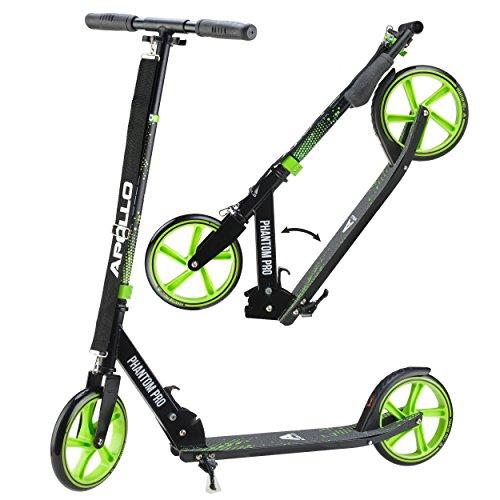 Apollo Monopattino XXL Wheel Kick Scooter 200 mm - Phantom PRO è Un City Scooter, City-Roller Pieghevole e con Altezza Regolabile, Monopattino, per Adulti e Bambini