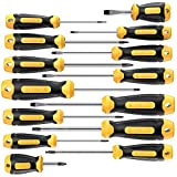 Magnetic Screwdriver Set 14 PCS Include Slotted/Phillips/Torx Precision Screwdriver With Plastic Toolbox Storage Case, CREMAX Professional Cushion Grip and Non-Slip for Repair Home Improvement Craft