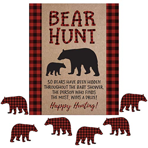 Lumberjack Scavenger Bear Hunt Baby Shower Game Lumber Jack Fun Activities and Decorations