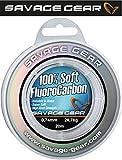 Savage Gear Soft Fluorocarbon Schnur 0,39mm 35m 9,4kg Angelschnur monofil, Fluoro Carbon Schnur,...
