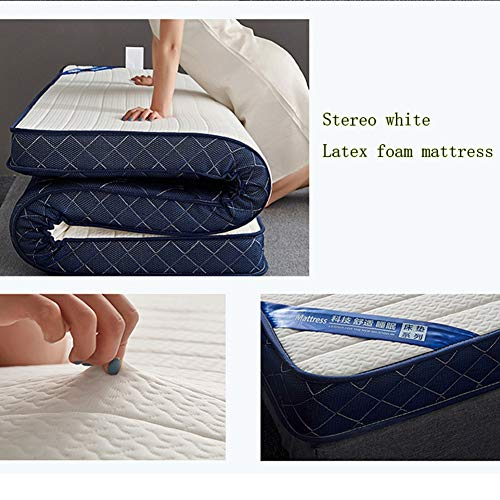 ZLBIN Latex Mattress 6In White, Memory Foam King Size (Fabric: Polyester) All Seasons,150x200cm