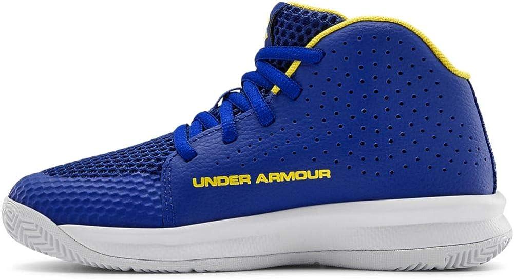 Under Armour Pre School 2019 Basketball Shoe, Royal (406)/White, 11 US Unisex Little Kid