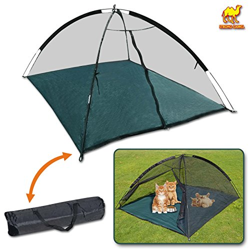 Strong Camel Portable Pet Fun House Cat Dog Playpen Feline Funhouse Outdoor Mesh Tent Foldable Exercise Tent with Carry Bag (SH006) (0.1g Tube)