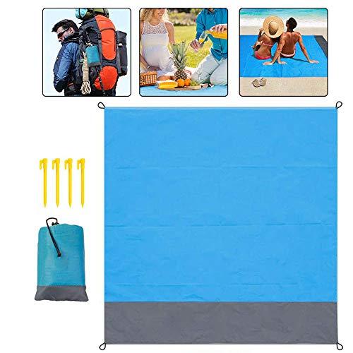 Playa Manta De Picnic Mat Alfombra De Bolsillo Portátil Sandproof Impermeable Manta Plegable Ligero Reforzado Con Ribete De Playa Que Acampa Yendo De Picnic.