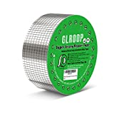 Aluminum Butyl Tape, Excellently Stop Leak Duct Sealant Tape, All Weather Patch, UV Resistant VOC-Free Outdoor Repair Tape for Gutter, Window, RV, Pipes, Chimney, Roof, Boat,Tent (2inX16.4 ft)