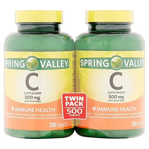 Spring Valley - Vitamin C 500 Milligram with Rose Hips, 500 Tablets