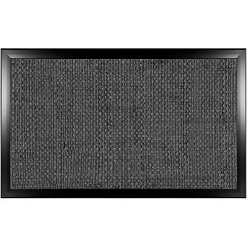 Bandeja de lino 83 LAP: Puf acolchado para ordenador portátil, mesa de comedor de TV acolchada (lino 83 negro grande)