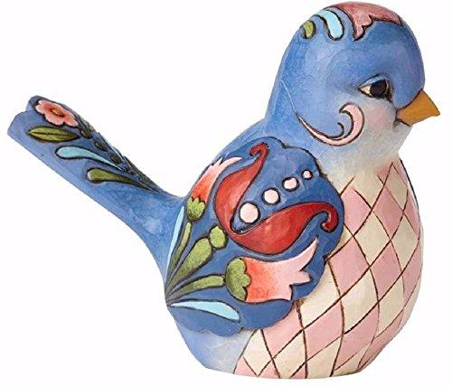 Jim Shore HWC Bluebird of Happiness Blue Floral Bird Figurine 4056964 Animal New
