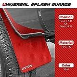 2PCS Red Universal Splash Guards Mud Flaps Mudguards Compatible with Car Pickup Truck Van