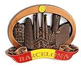 BARCELONA - Imán de metal para nevera, frigorífico o cocina de diseño único. Fridge Magnet