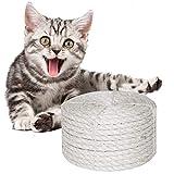 O'woda Natural Cuerda de Sisal Gatos 6mm, para Reemplazo Árbol Rascador para Gatos, Accesorios de Bricolaje Manualidades (Blanco, 10M)