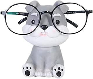 SODIAL Puppy Dog Glasses Holder Stand Eyeglass Retainers Sunglasses Display Cute Animal Design Gift (Schnauzer)