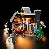 Elroy369Lion Juego de iluminación LED compatible con Lego Seasonal Santas Visit Set 10293, caja de batería USB, para modificación DIY, juego de iluminación oculta para edificios (sólo LED incluido)
