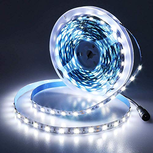 JOYLIT 24V Tiras LED Iluminación Blanco 300 LEDs SMD5050, 5M IP20 NO Impermeable 6000-6500K Luces LED para Armario, Dormitorio, Muebles, Cocina