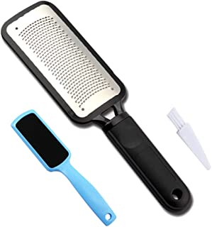 Foot File Callus Remover and A Double Side Foot Rasp Foot File to Remove Hard, Cracked,Coarse and Calluses Skin include a Clean Brush