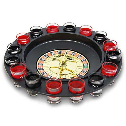 Roulette Trinkspiel / Mit 16 Trinkgläsern und 2 Kugeln / Partyspiel Casino Party-Saufspiel!