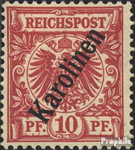 Prophila Collection Carolinas (alemán.Colonia) Michel.-No..: 3II C examinado con Attest 1900 emisión...