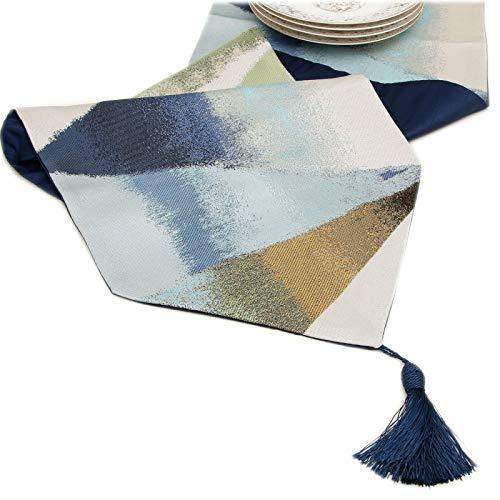 QXbecky Camino de Mesa Tinta triángulo geométrico Pintura Abstracta Mesa Mesa de Centro TV gabinete Zapato manteles té Mantel Cama Larga Bandera32x270㎝