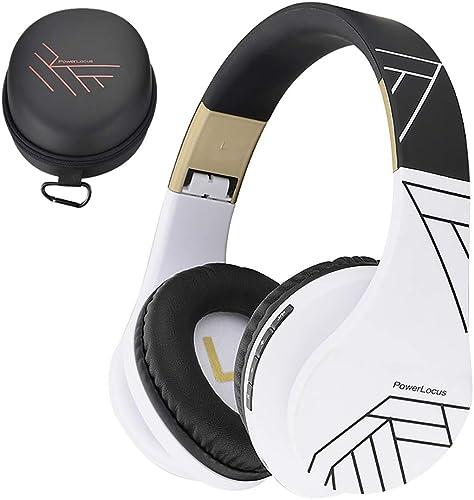 PowerLocus Casque Bluetooth sans Fil, Casque Audio stéréo Pliable sans Fil et Filaire avec Micro intégré, Micro SD/TF...