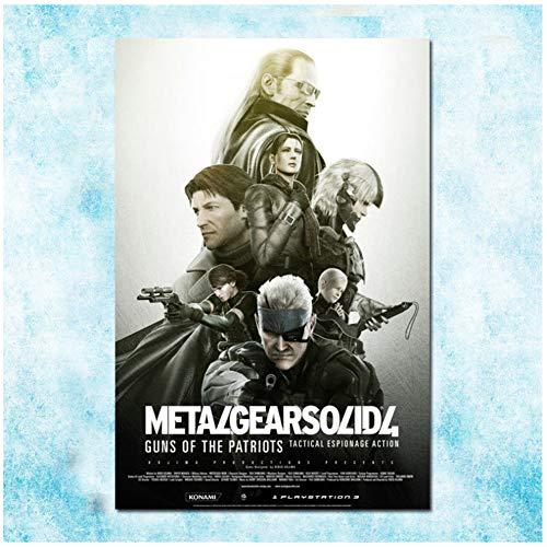 Metal Gear Solid V Hot Game Art Poster Canvas Print Home Decoración de pared regalo Obra de arte Imprimir en lienzo -50x70cm Sin marco