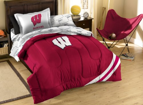 The Northwest Company Officially Licensed NCAA Wisconsin Badgers Twin Bedding Set