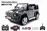 Lizenz Kinderauto Mercedes - Benz G55 AMG 2x 35W Motor MP3 RC SUV Jeep Elektroauto Kinderfahrzeug Ferngesteuert Elektro Auto (Schwarz)