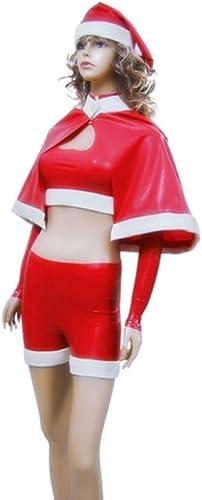 100% Latex Sexy Cosplay Anzüge Weißnachten Schneemann Anzug ohne Hüte Latex Cosplay Kostüm (XS(B84 W68 H86CM))