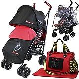 iSafe Buggy Cochecito de paseo–Racer (completa con saco, bolsa de pañales, parachoques Bar y cubierta para la lluvia)